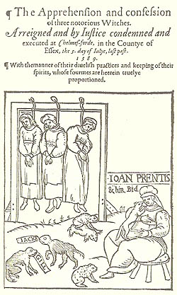 The apprehension and confession of three notorious witches. Arreigned and by iustice condemned and executed at Chelmes-forde, in the Countye of Essex