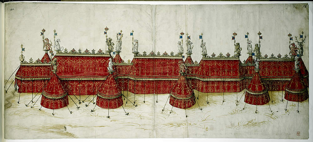 Tent design for the 1520 Field of Cloth of Gold