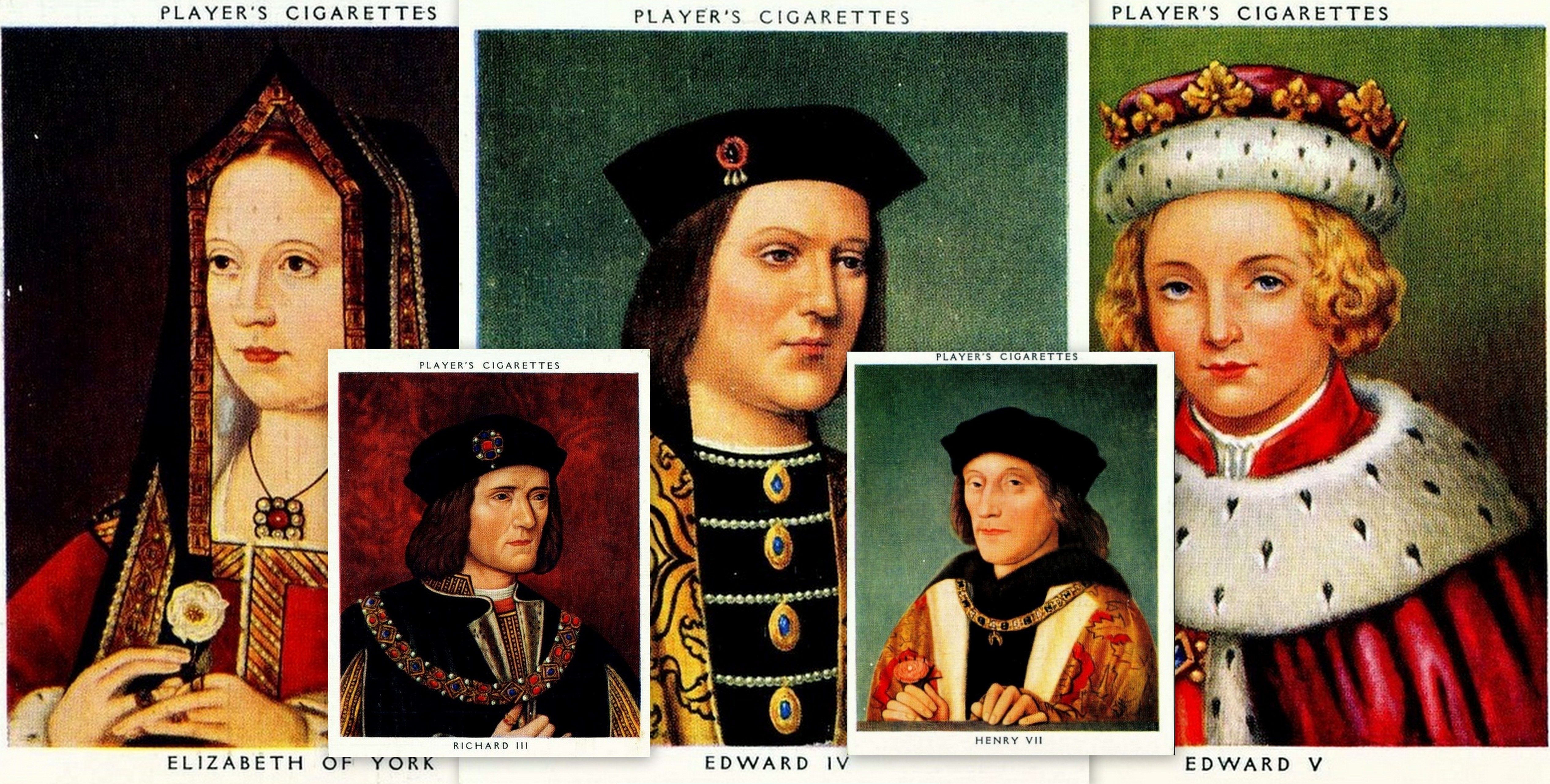 Player's Kings & Queens cigarette cards - Plantagenets to Tudors