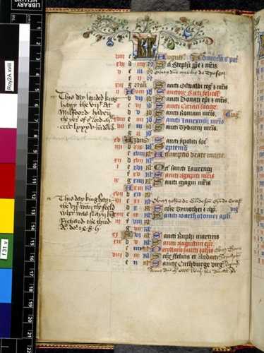 Royal 2 A XVIII f. 31v Death of Richard III