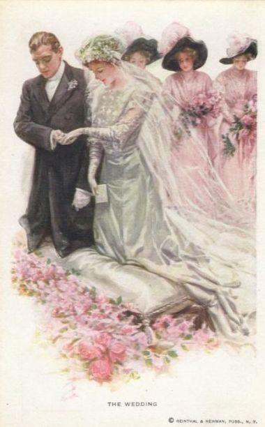 Harrison Fisher - Wedding postcards