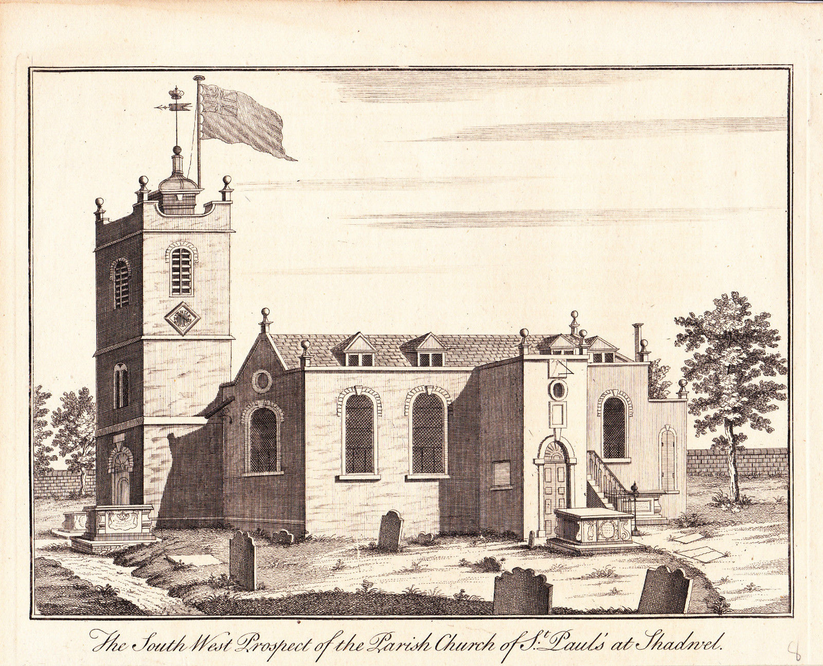 St Paul's Shadwell c1760