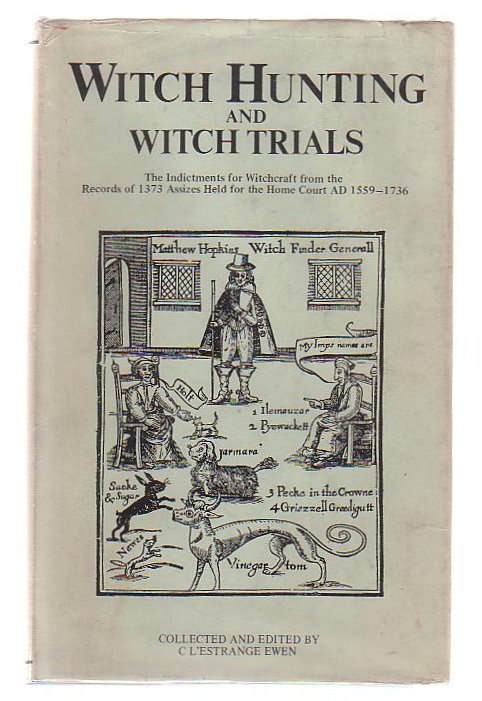 Witch hunting and witch trials, Ewen, 1929
