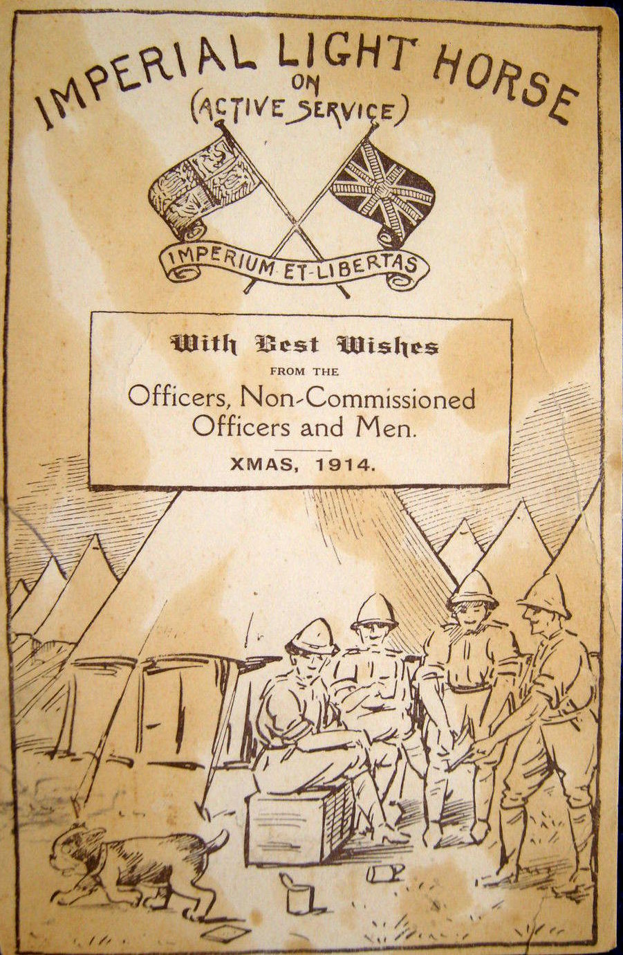 Postcards from the Front: Britain 1914-1919 - Christmas greeting from Imperial Light Horse