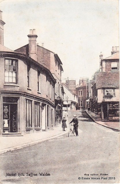 Market Hill in the early 1900s, Saffron Walden