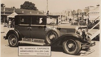 Al Capone's Car at the Kursaal in 1933